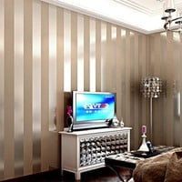 Modern 3D Embossed Wallpaper Roll 3D Stripe Wallpaper Environmental Protection Wallpaper Desktop Home Decor Wall Paper Covering