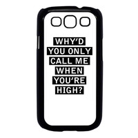 Personalised AM song lyrics Samsung Galaxy S3 Case