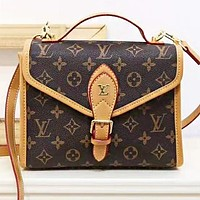 Louis vuitton LV Fashion new monogram leather shopping leisure shoulder bag crossbody bag handbag