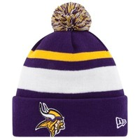 New Era Minnesota Vikings 2013 On-Field Player Sideline Sport Knit Hat - Purple/White