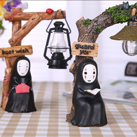New 17cm Japanese Anime My Neighbor TOTORO Kaonashi No Face Man LED NightLight Action Figure Studio Ghibli Miyazaki Hayao Toy