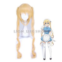 100cm Blend S Kaho Hinata Blonde Cosplay Wig Women Lolita Long Wavy Ponytails Hair Wigs