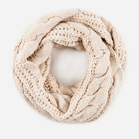 DailyLook: Cable Knit Infinity Scarf in Gray