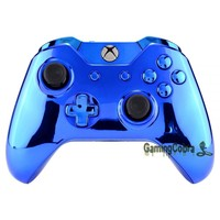 For Xbox One Controller Shell Custom Cover Repalacement Parts Chrome Shiny Blue