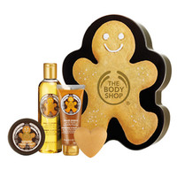 The Body Shop Shower, Scrub and Moisture Collection ($30 Value), Ginger Sparkle
