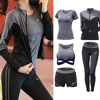 Trendsetter NIKE Gym Sport Yoga Embroidery Top Cami  Set Five-Piece Sportswear