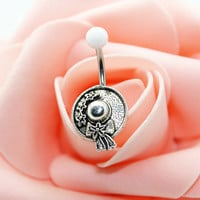 Belly button ring,Sun hat belly ring,Sun hat belly button jewelry