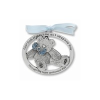 Blue or Pink Epoxy Teddy Bear Crib Medal