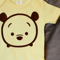 Organic Tsum Tsum Inspired Disney Winnie the Pooh Baby Clothes Baby Onesuit