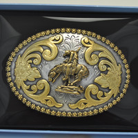 Nocona Oval Berry End of Trail Belt Buckle