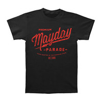Mayday Parade Men's  Hand Crafted T-shirt Black Rockabilia