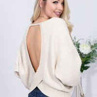 Open Back Ivory Top