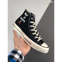 Converse x Batman cheap mens and womens Fashion Canvas Flats Sneakers Sport Shoes