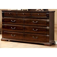 Sumptuous Handy Wooden Dresser, Cherry Brown By Casagear Home