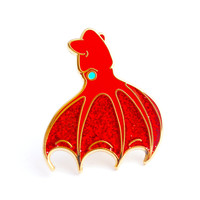 Vampire Squid Enamel Pin