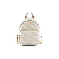 Erin Small Leather Convertible Backpack Bag (Vanilla)