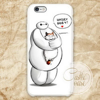 baymax hairy baby hero six two side mug iPhone 4/4S, 5/5S, 5C Series, Samsung Galaxy S3, Samsung Galaxy S4, Samsung Galaxy S5 - Hard Plastic, Rubber Case