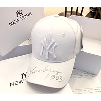 MLB 2019 new embroidered letters for men and women outdoor sports baseball cap White