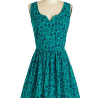 Sleeveless A-line Forest Things First Dress