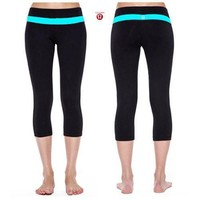 Lululemon Fashion Solid Yoga Sport Gym Tight Pants Trousers Sweatpants-1