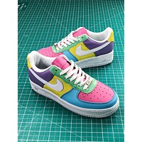 Nike Air Force 1 Low Easter Colorful Cream Fashion Shoes