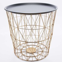 Wire Basket Side Table - Urban Outfitters