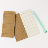1 pcs Portable Weekly Plan Notebooks Retro Planner Diary Notepad Office Stationery Creative Gift