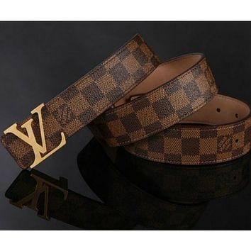 LOUIS VUITTON MEN&WOMEN REAL LEATHER BELTS 0065