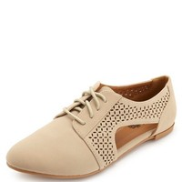 PERFORATED CUT-OUT OXFORDS