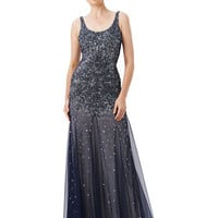 Adrianna Papell Beaded Mermaid Gown