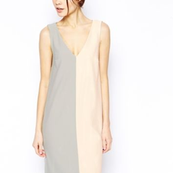 ASOS Shift Dress in Texture Colo
