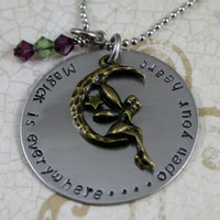 """Handstamped Personalized Stainless Steel Necklace """"Magick is Everywhere"""" Fairies, Magick"""