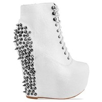Jeffrey Campbell Damsel Spike in White Black at Solestruck.com