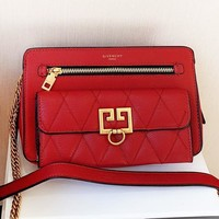 Givenchy New fashion leather shoulder bag crossbody bag Red