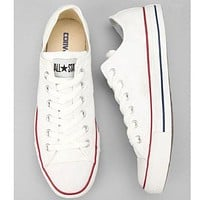 Converse Trending Women Men Casual Canvas Flats Sneakers Sport Shoes White I