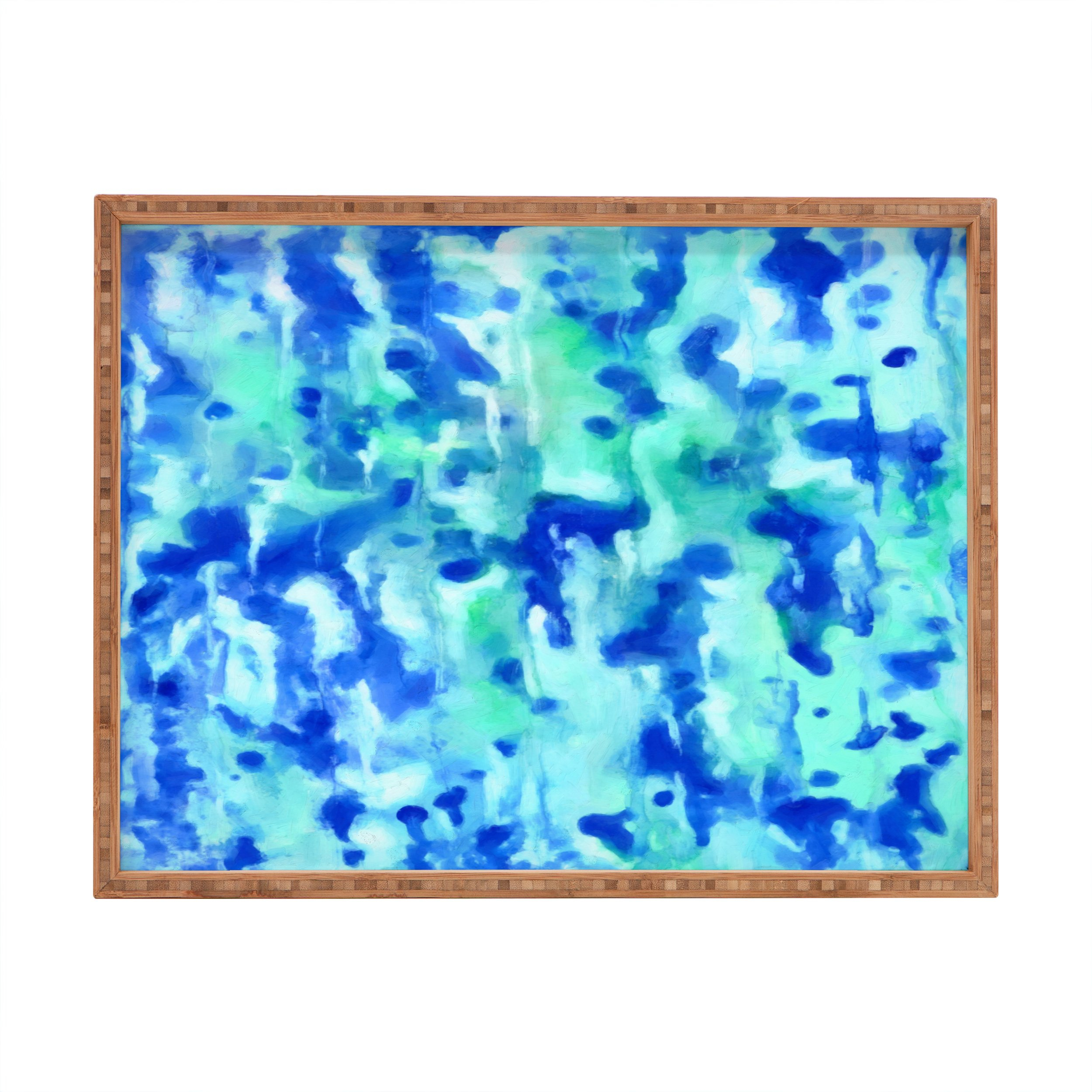 Image of Rosie Brown Blue On Blue Rectangular Tray