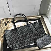 Kuyou Gb69729 Goyard Tote Black Mini Carry Shopper Bag Picture Size 34*45*13 Cm