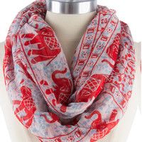 Red Lucky Elephant Scarf | The Handmade Hustle