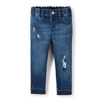 Baby And Toddler Girls Destructed Woven Jeggings