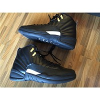 "Air Jordan 12 ""The Master"" black/white Basketball Shoes 40--47"