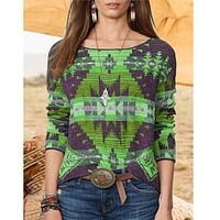 fhotwinter19 Explosive Women's Hot-selling Ethnic Knit Sweater