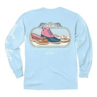 Rain or Shine Long Sleeve Tee in Chambray by Lily Grace