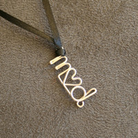 Custom Initials Necklace Military Support by MilitaryHeartTees