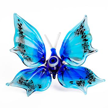 """Glass Butterfly Insects Animal Figurine 3.75"""""""