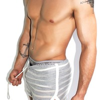 Jersey Lace Running Shorts- Grey