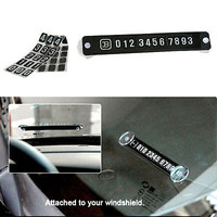 Attractive Parking Notification Telephone Number Plates Car Vehicle Accessories