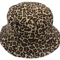 Free Shipping 2018 New Fashion Summer Leopard Animal Printed Bucket Hats Fishing Cap Women Men