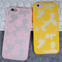 Womens Vintage Retro Lace iPhone 5S 6 6S Plus Case Solid Cover + Nice Gift Box 445