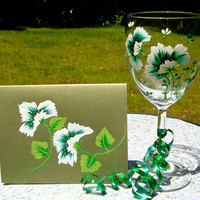 Wine Glass and Blank Card Gift Set