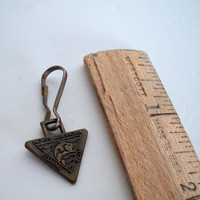Vintage North American Fishing Club Pendant With Clip For Key Chain 5/8 X 3/4 Inches Some Aging